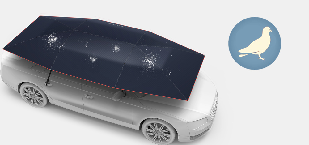 schutz vor vogelkot autoschirm car protector. Black Bedroom Furniture Sets. Home Design Ideas